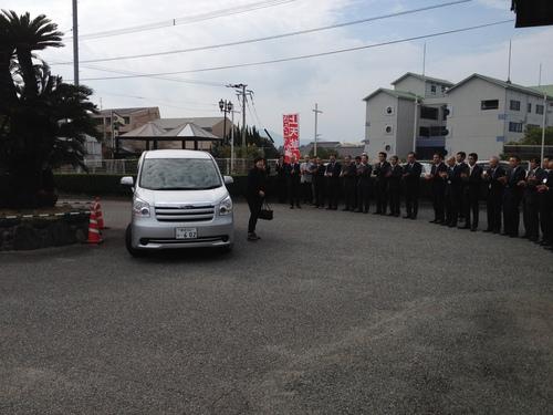 安倍昭恵さんお出迎え 2013年11月 6日