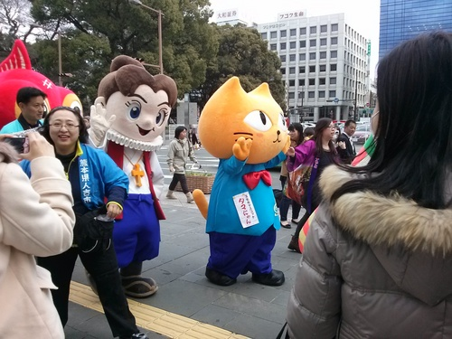 ゆるキャラのお友達とパレード 2014年3月12日